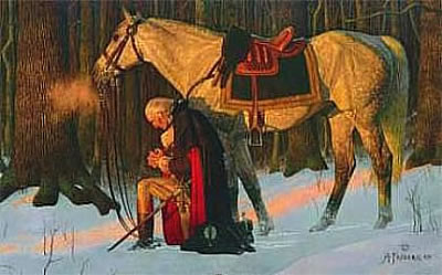 The Prayer at Valley Forge by Arnold Friberg, 1976.