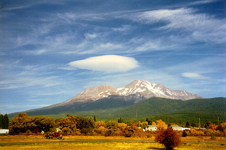 Mount Shasta, at Northern California, USA