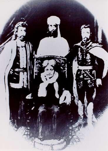 Mme. Blavatsky con los maestros Kuthumi, El Morya y San Germán