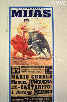 Bullfighting Cartel