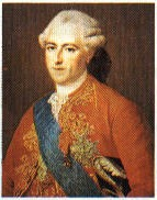 Louis XV (1710-1774), great grandson of Louis XIV, King of France from 1715 to 1774.  Governed primarily under the regency of Phillip of Orleans.  France intervined in the wars of Succession of Polony and Austria.  In the War of the Seven Years (1756-1763), against England and Prussia, he had to surrender the possessions of India, Canada and Louisiana.  The First Minister Choiseul was able to get together the four Borbonic reigning branches in the so called Family Pact (1761).  The preponderant influence of the royal favorates and the internal politics of the monarch, sometimes contradictory, contributed to favor the action of encyclopedic philosophers, who prepared the way for the French Revolution.  His grandson, Louis XVI, married Marie Antoinette, the daughter of Francis I.